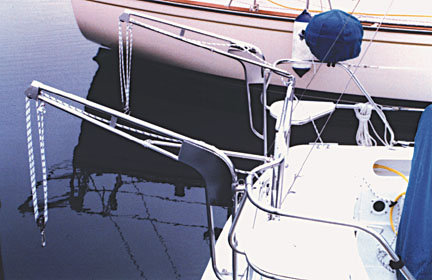 Lift Up Dinghy Davit Systems And Dinghy Davits For